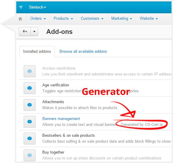 CS-Cart Add-on Builder